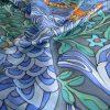 Pañuelo cuadrado dragón azul
